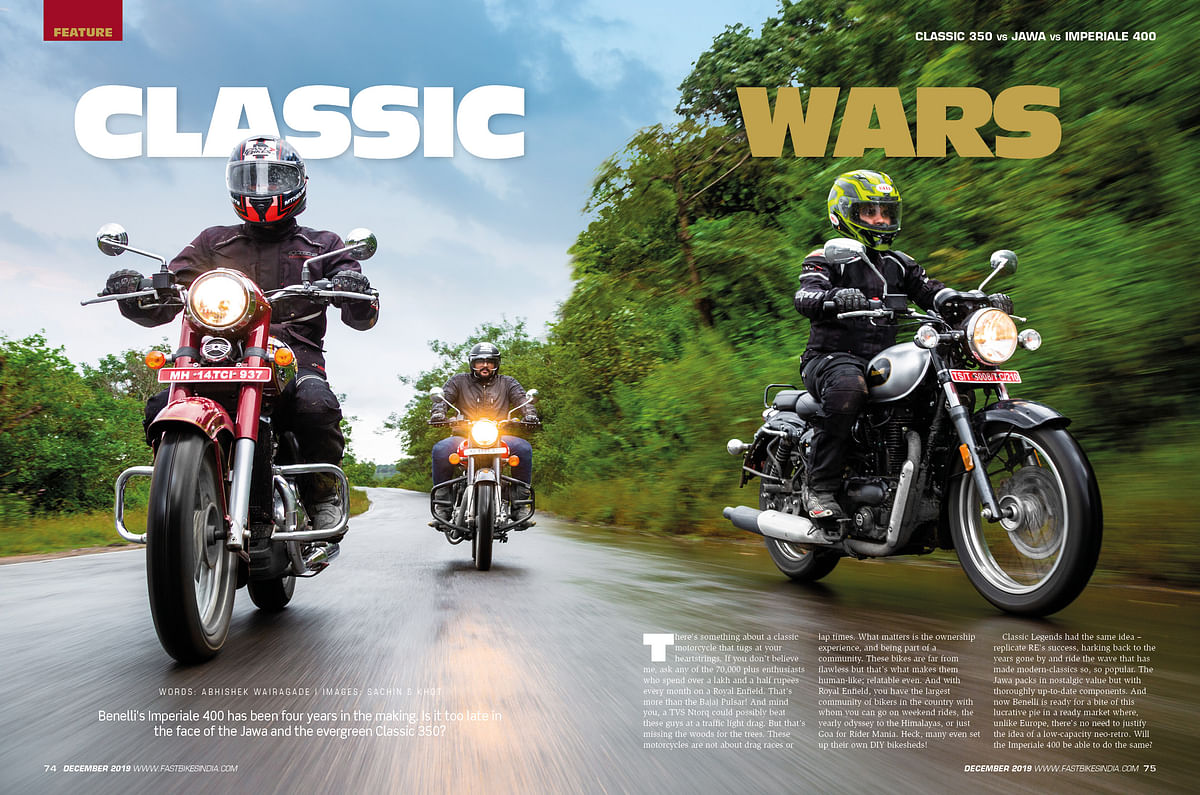 What's inside the December 2019 issue of Fast Bikes India magazine?