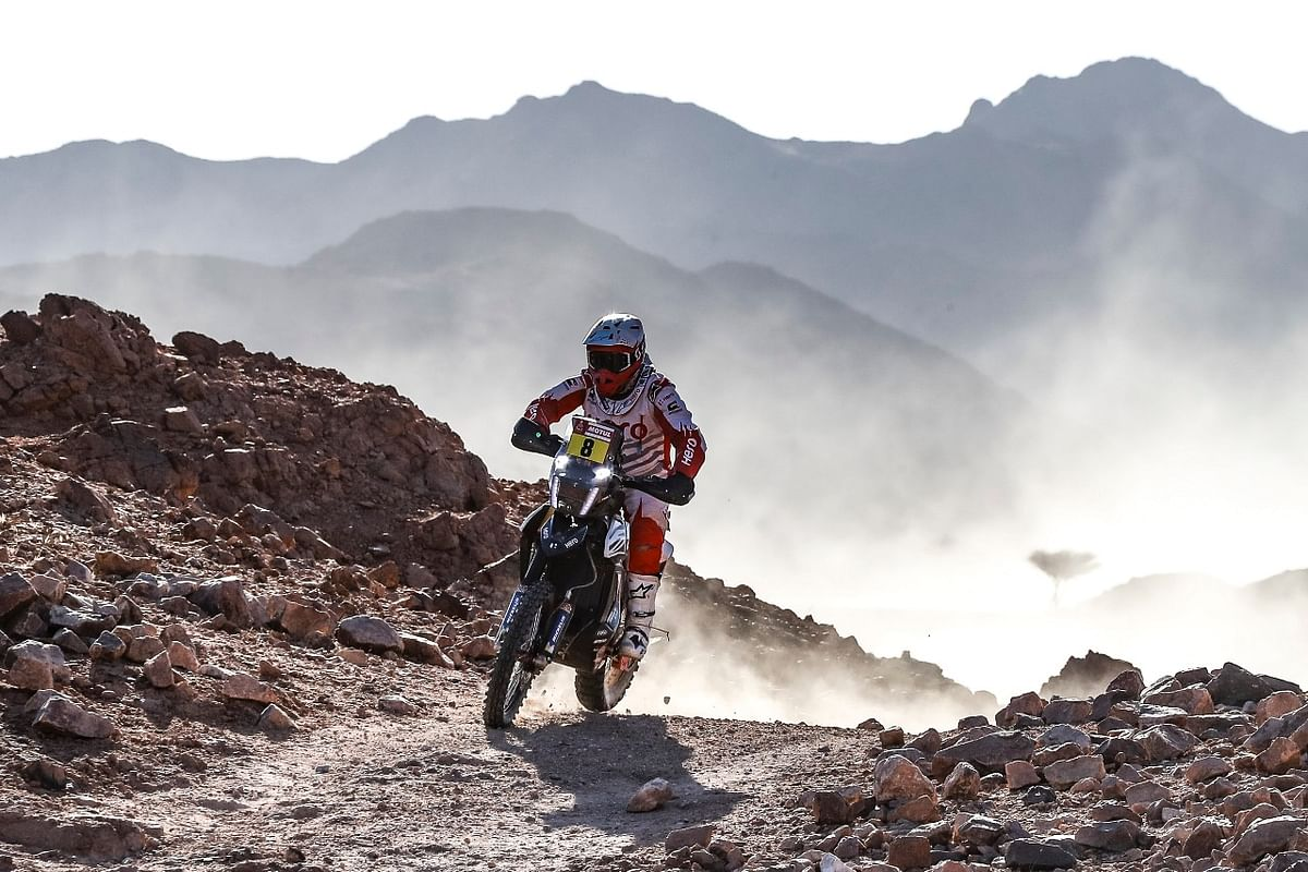 Hero MotoSports Team Rally riders make pace in stage two of the 2020 Dakar