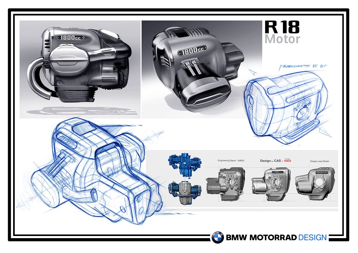 BMW R 18  engine design