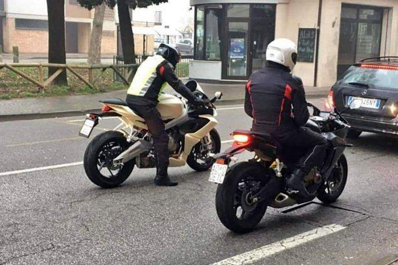 GOTCHA! Spy shot of the Aprilia RS 660 on the road