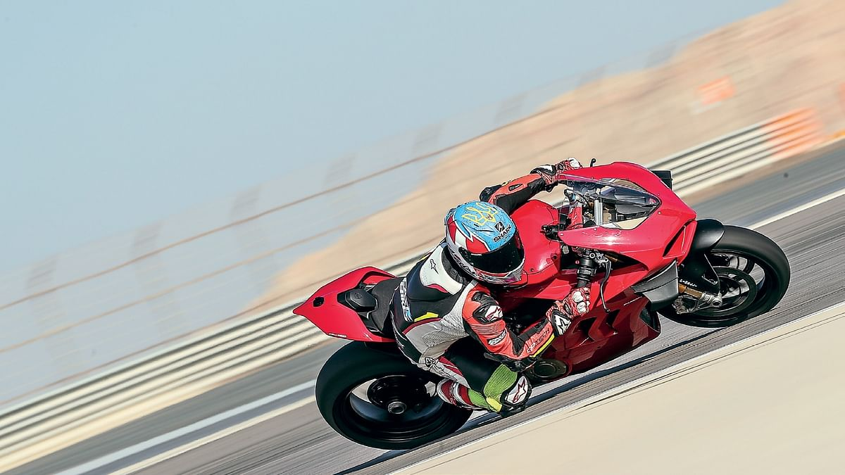 Ducati's claiming 214bhp as standard... Carl's claiming it's a beast