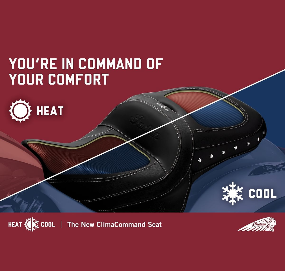 Indian Motorcycle announces heated and cooled motorcycle seats