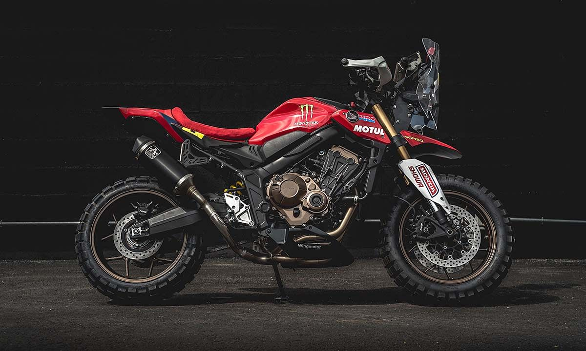 HRC's Dakar rally bike inspired Honda CB650R