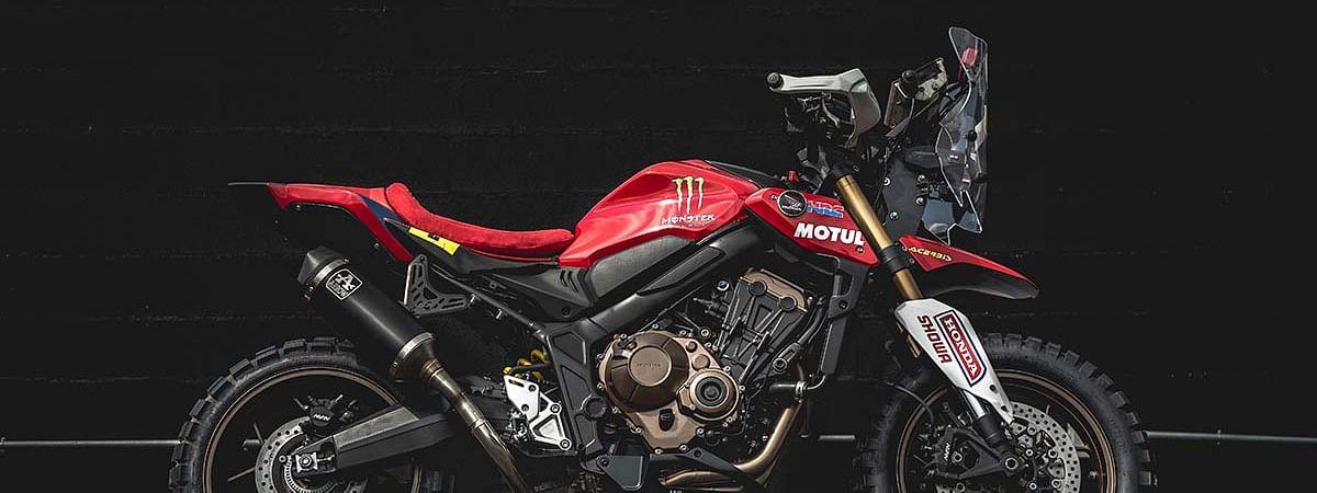HRC's Dakar rally bike inspired Honda CB650R