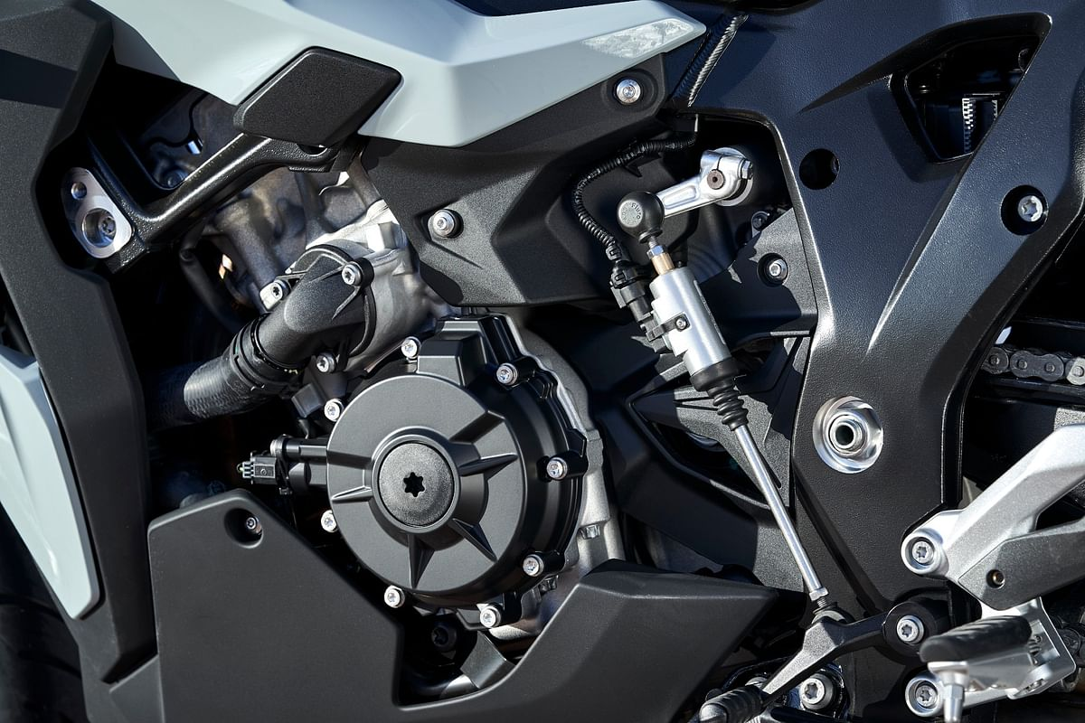 The 2020 S 1000 XR does not get BMW's ShiftCam tech