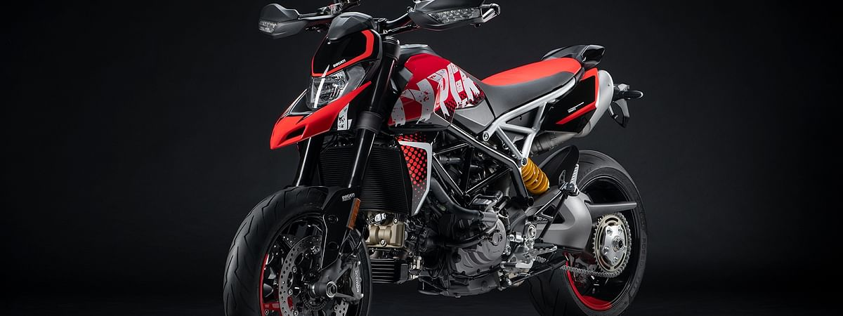 Ducati showcased the Hypermotard RVE which will be placed between the standard and SP variant in the supermoto range