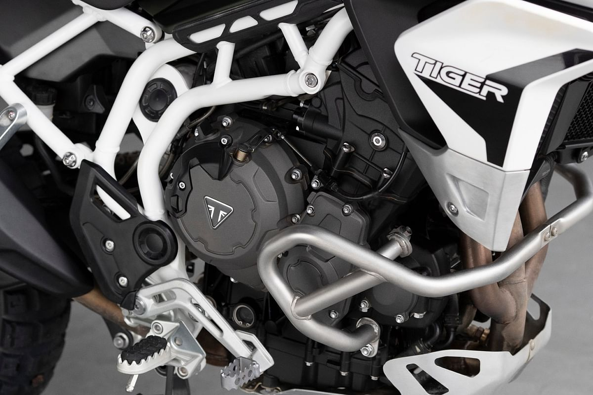 The new engine is cocooned in a new steel trellis frame that weighs around 5kg less than the previous version