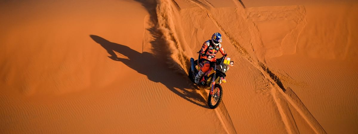 Toby Price at the 2020 Dakar Rally