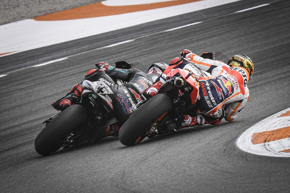 Marc Marquez and Fabio Quartararo at the 2019 Spanish GP at Valencia
