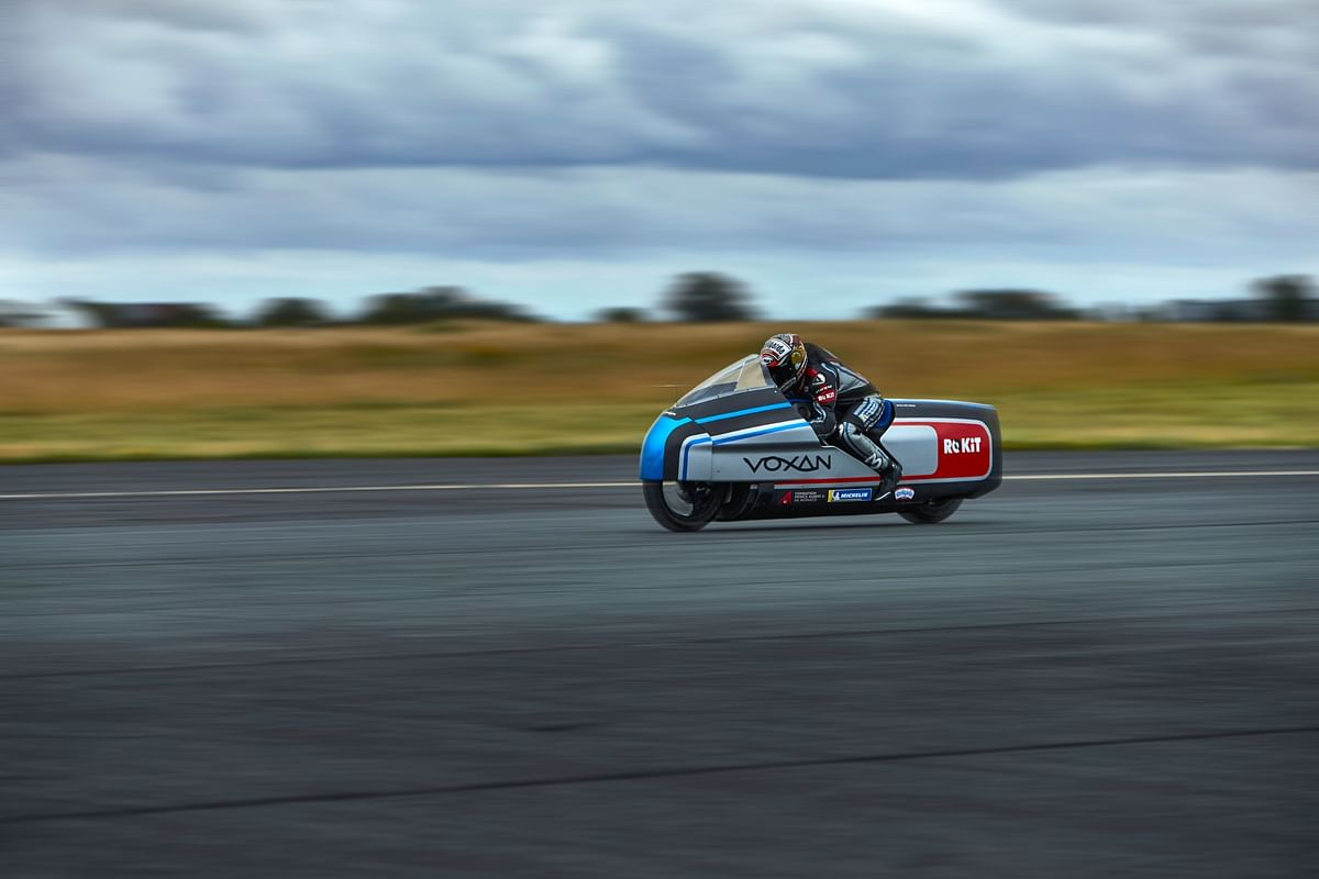 Voxan showcases its electric land speed record contender