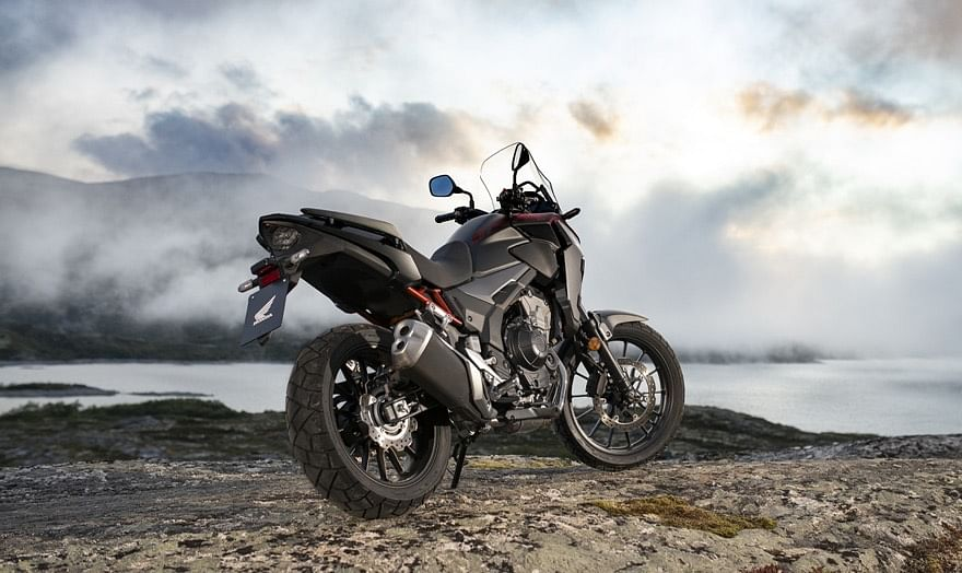 The CB400X gets alloy wheels, an adjustable screen, LED lights, ABS, adjustable levers and digital instruments
