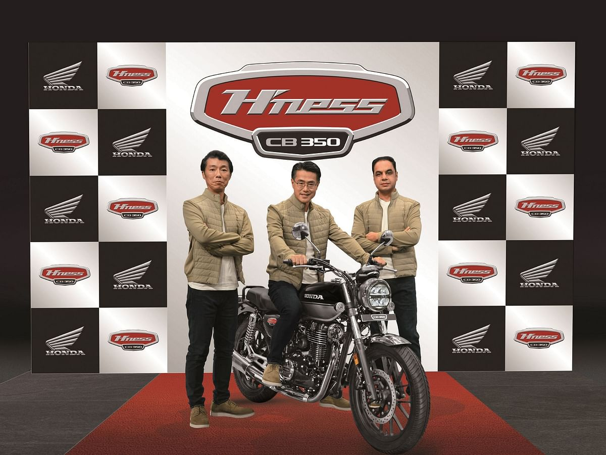 The new Honda H'ness CB350 at the global unveiling