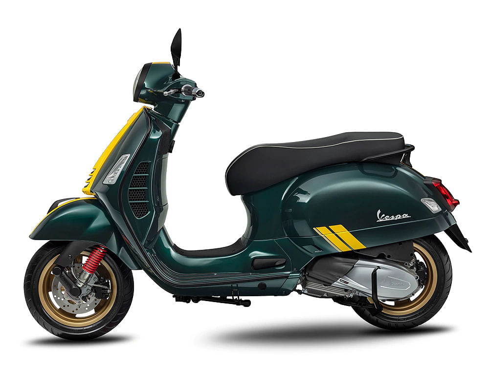 The yellow stripes really do pop on the Bosco Green shade. Sadly we won't be getting this colour