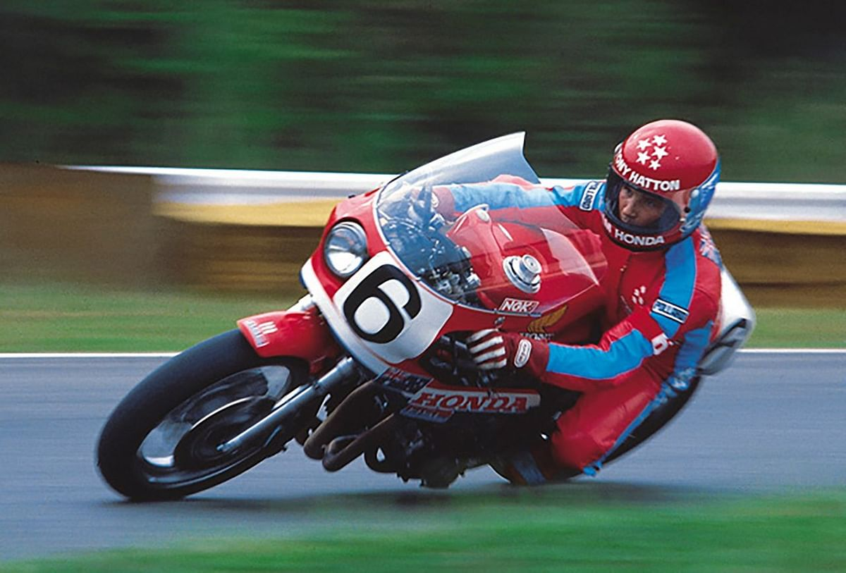 Tony Hatton astride the CB900F-powered RS1000 endurance bike