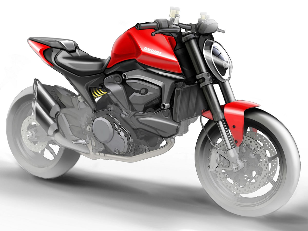 Renders of upcoming Ducati Monster 821 leaked