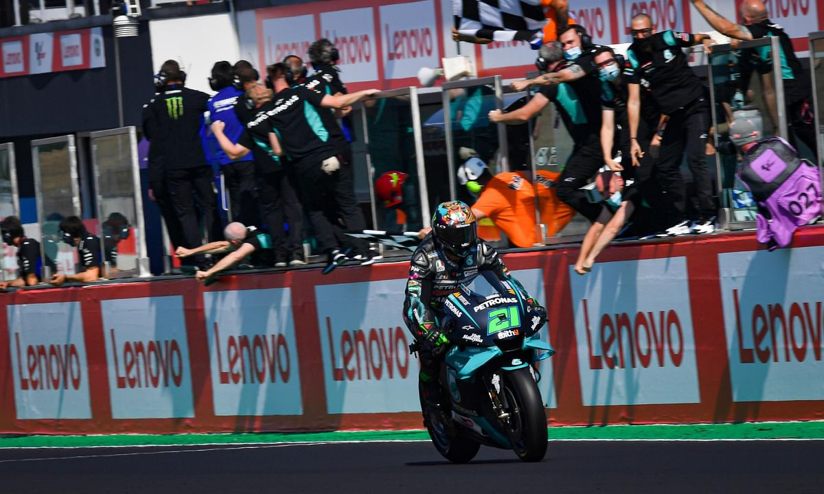 Morbidelli ensured a win for the Petronas Yamaha SRT team