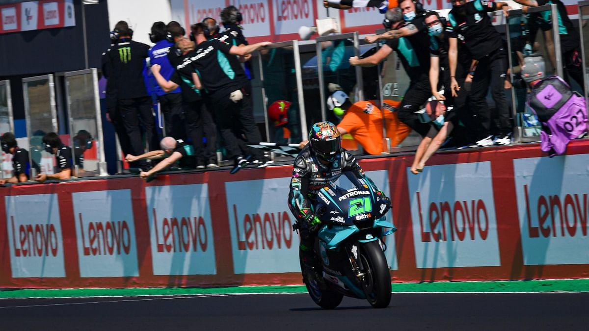Morbidelli ensured a win for the Petronas Yamaha SRT team
