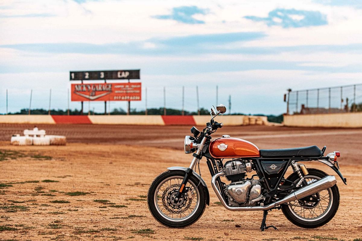 The beauty of flat track racing is taking heavy production motorcycles like the RE Interceptor 650 and prepping them into race machines