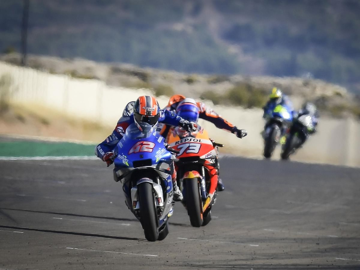 Alex Rins scores the win at Aragon