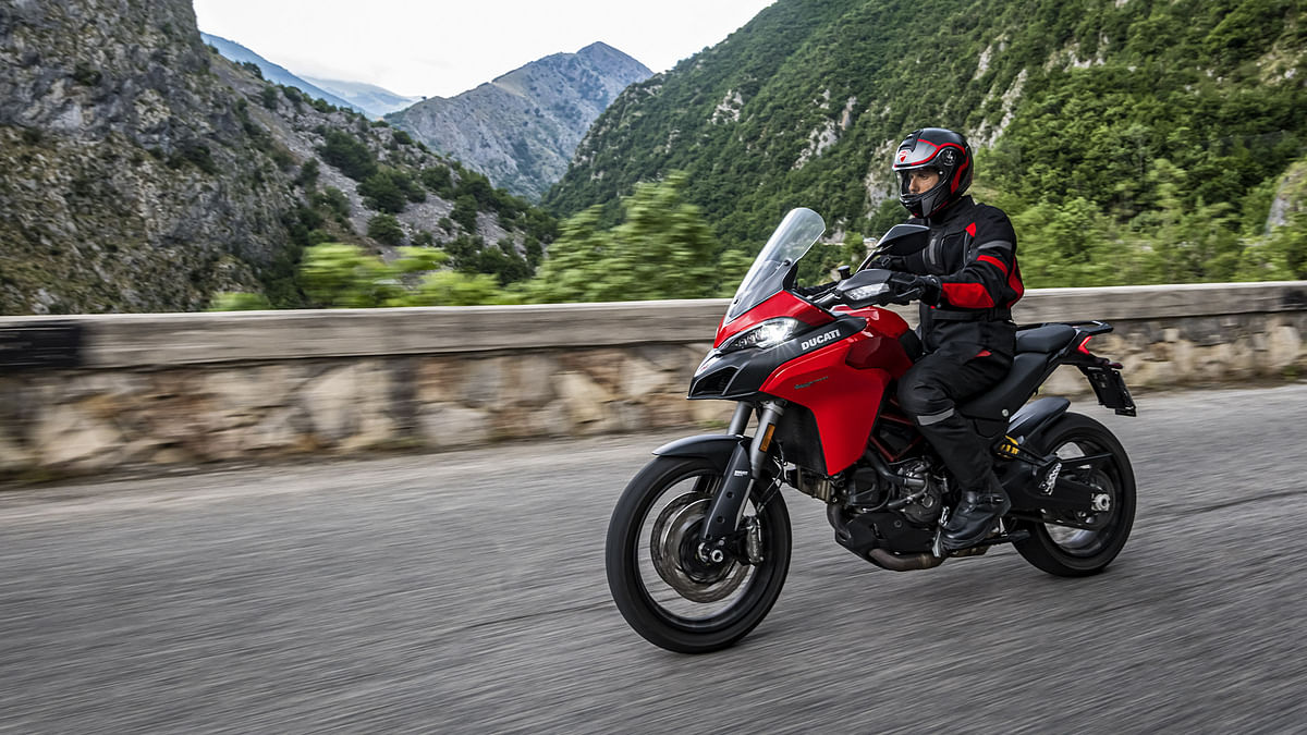 The Ducati Multistrada 950 S will be available only in the classic Ducati Red colour scheme, as of now