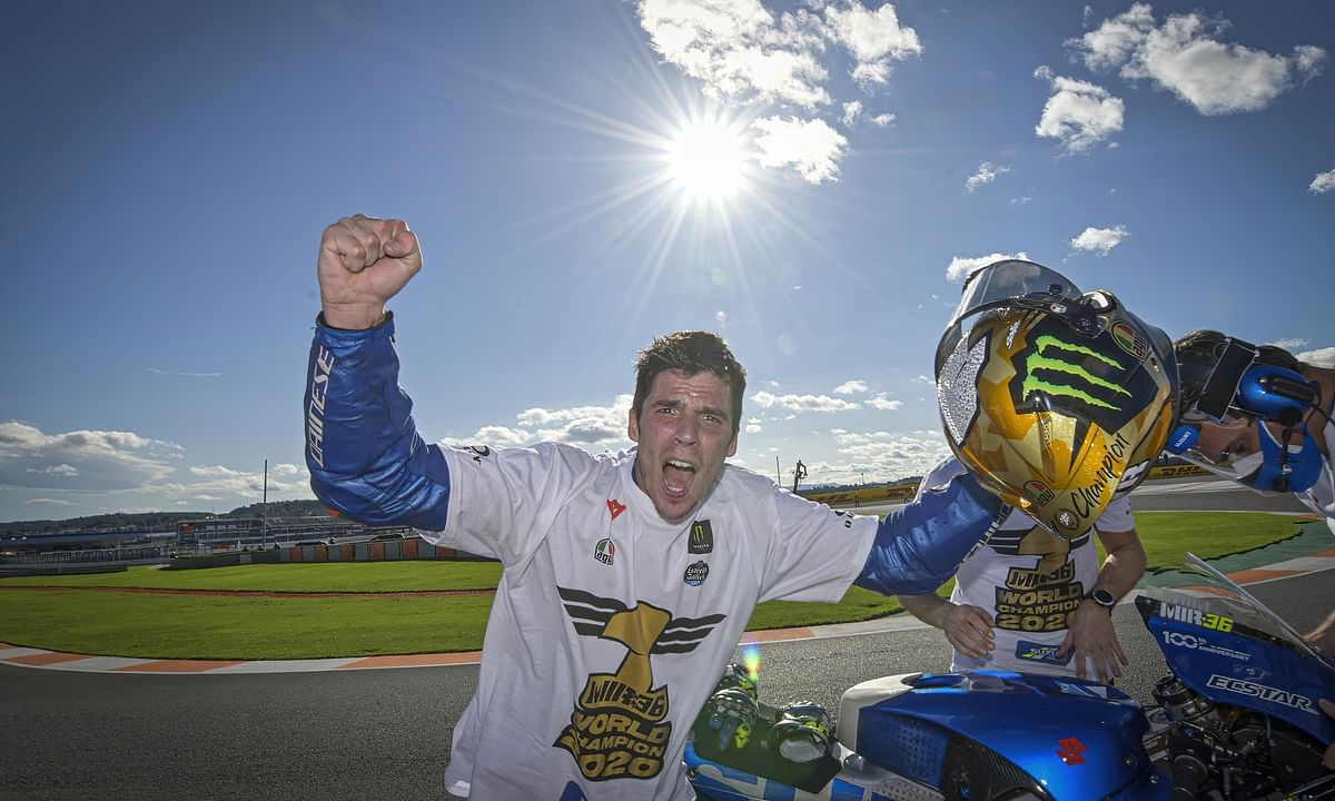 Joan Mir claims the 2020 MotoGP world Championship