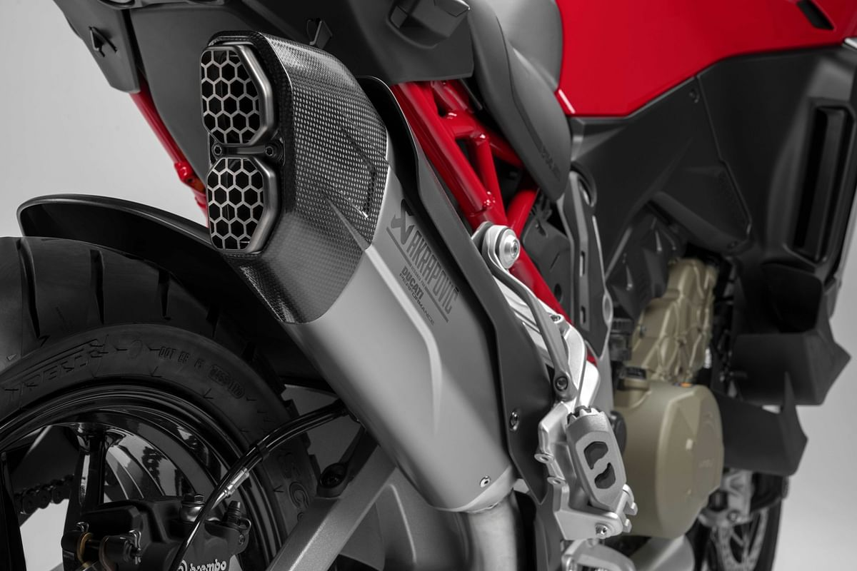 Killer looking (and sounding) Akra can is optional on the base and S variant, and standard on the S Sport