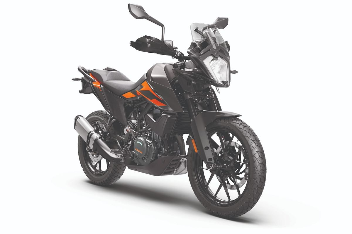 KTM is also offering this understated black paint option
