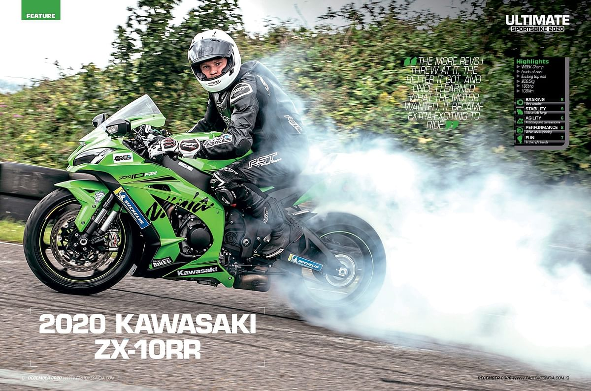 With decent brakes and good tech the ZX-10RR, the Kawasaki is still a good buy
