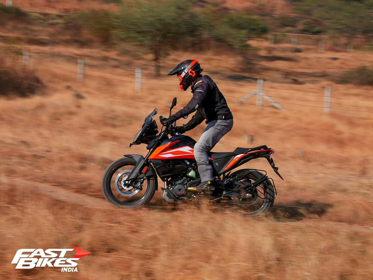 The KTM 250 Adventure is a soft-roader