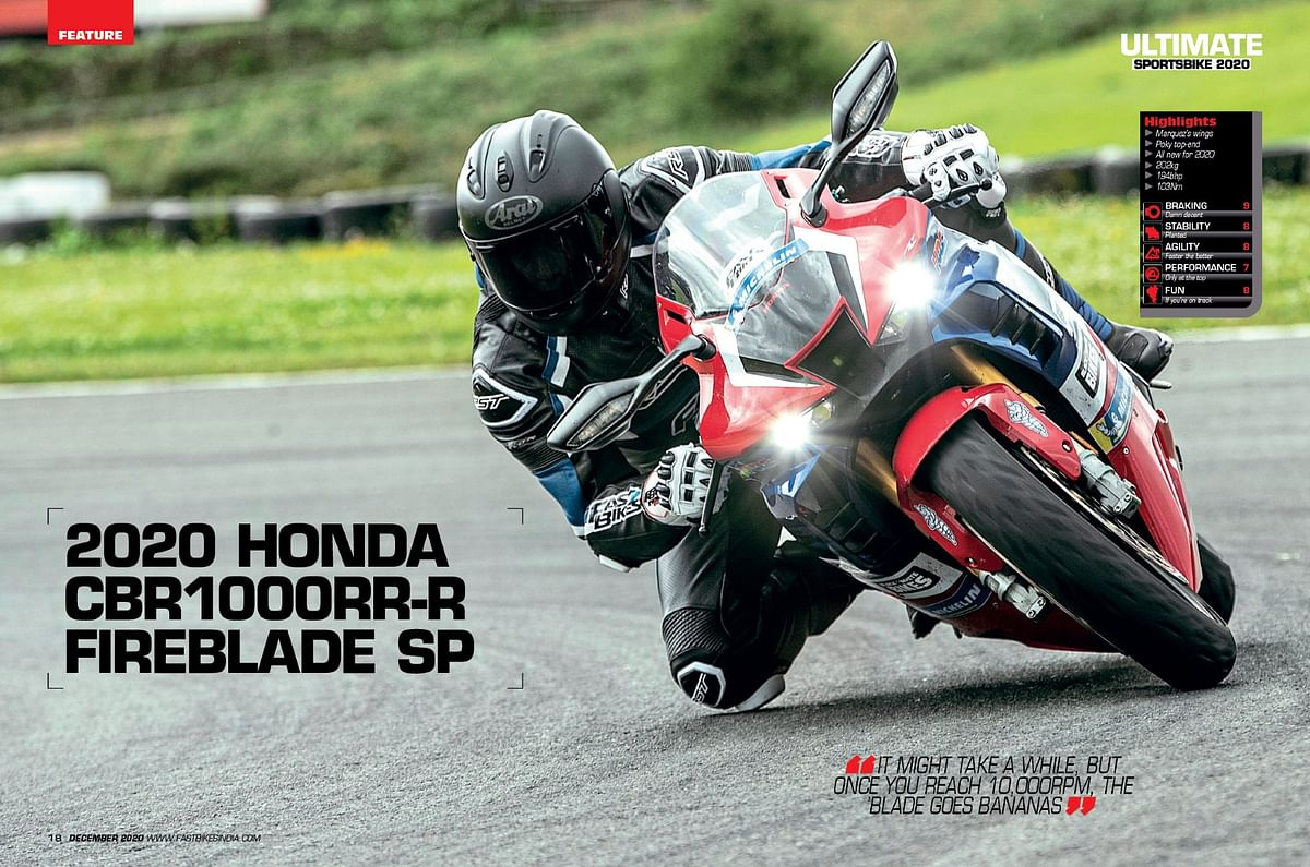 The latest Fireblade seems to be the best in all departments on paper