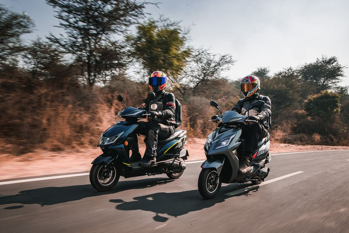 Eeve India's latest offerings: the Ahava (left) and Atreo (right) e-scooters