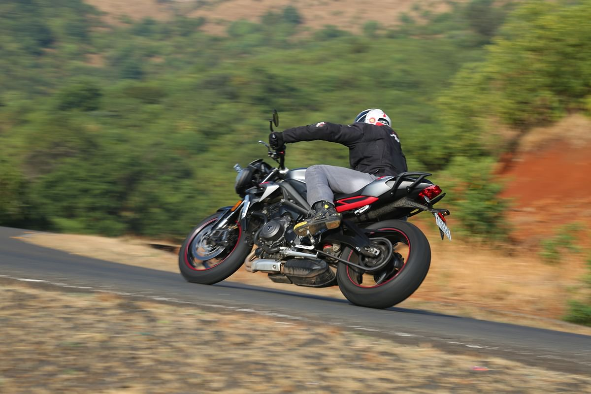 The Street Triple R is sublime in corners