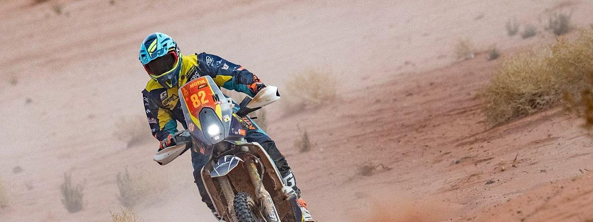 Neither a crash, nor a penalty could dull Ashish's Dakar spirit