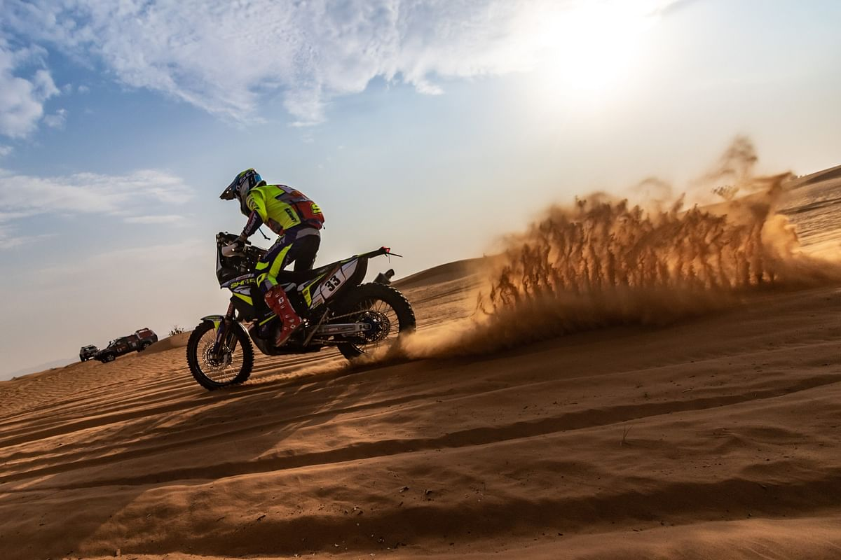 Harith showed a considerable improvement in placings in stage 6 of the Dakar
