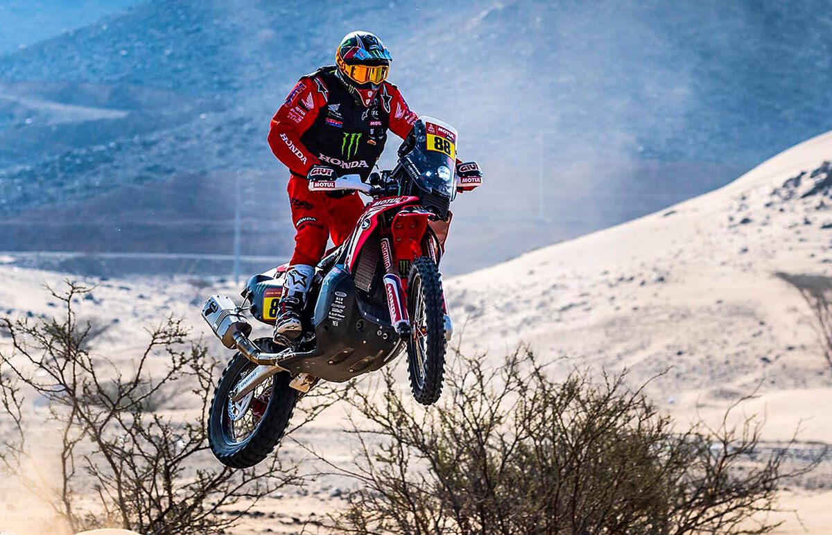 Joan Barreda Bort retains first position in stage four of Dakar 2021