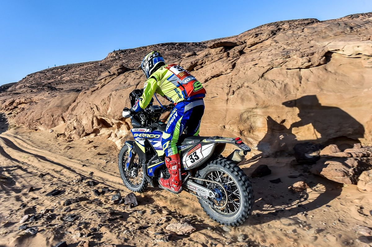 Harith Noah navigated the rocky and sandy third stage of the Dakar 2021 with aplomb