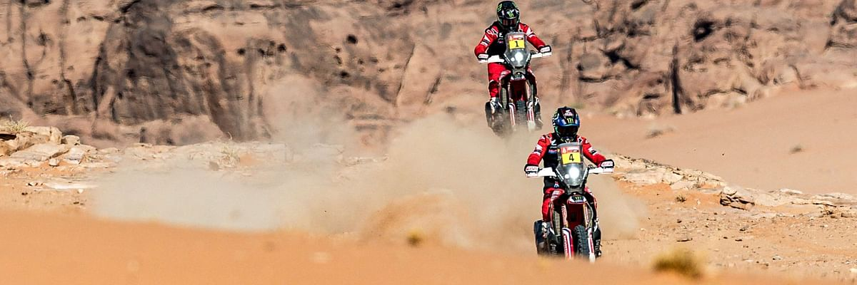Dakar 2021 Stage 10 | The Monster Energy Honda trio dominates for the second time in a row