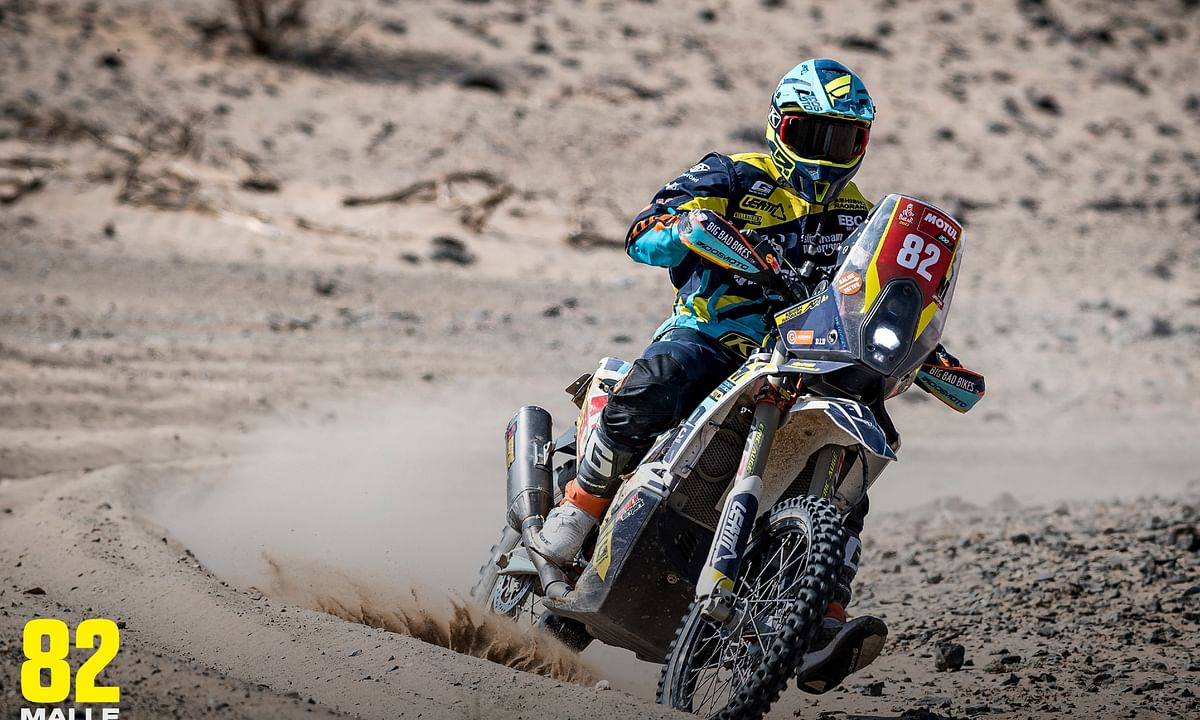 Ashish put in his best performance so far in stage 4 of the Dakar 2021