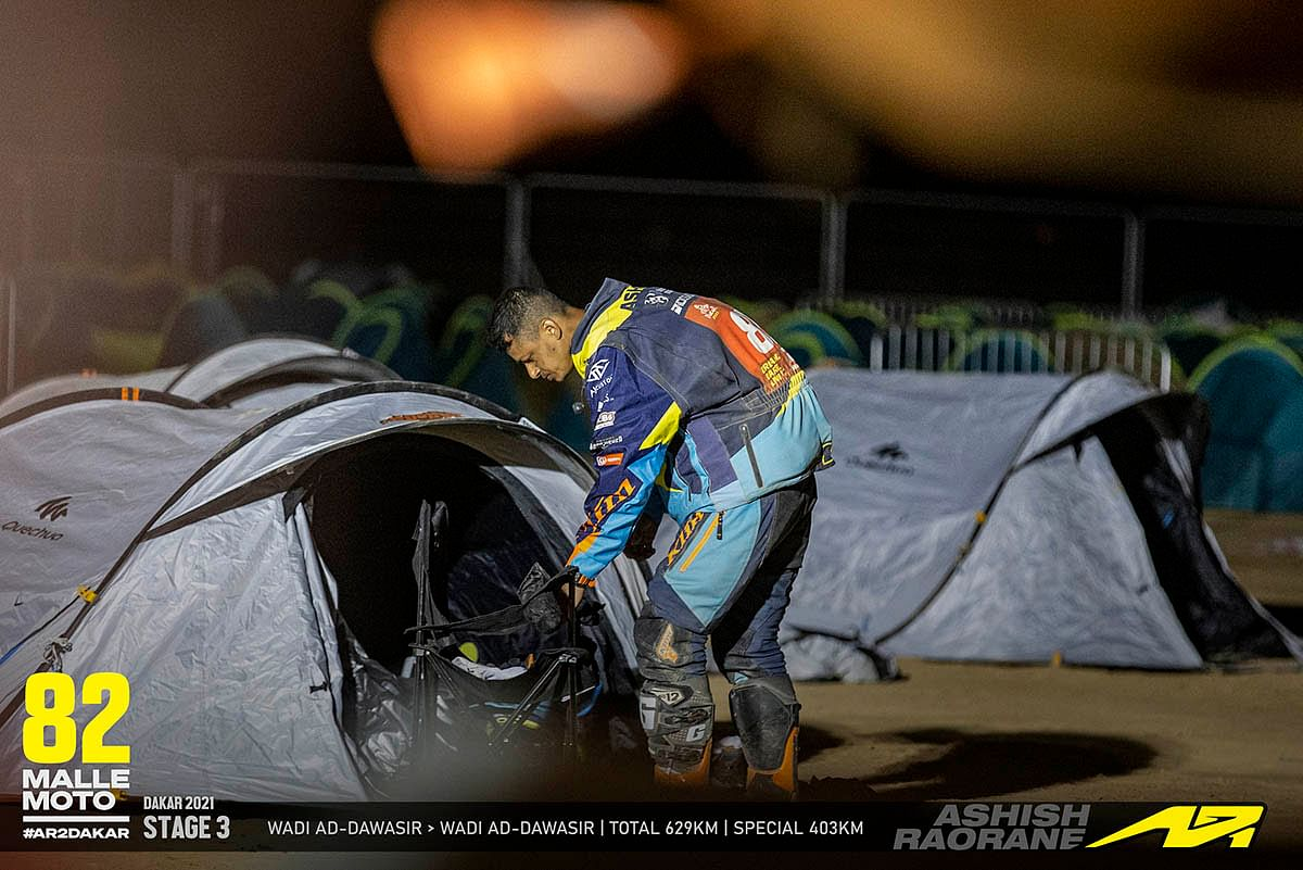 An Original by Motul competitor at the Dakar can only sleep after every nitty-gritty of the next stage is ready