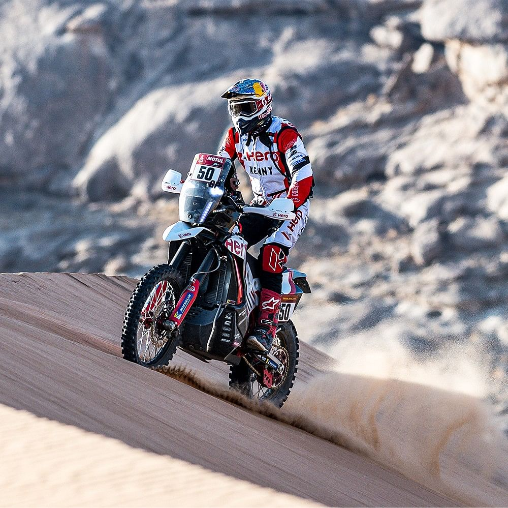 Hero MotoSports Team Rally riders move up significantly in Stage 2 of 2021 Dakar