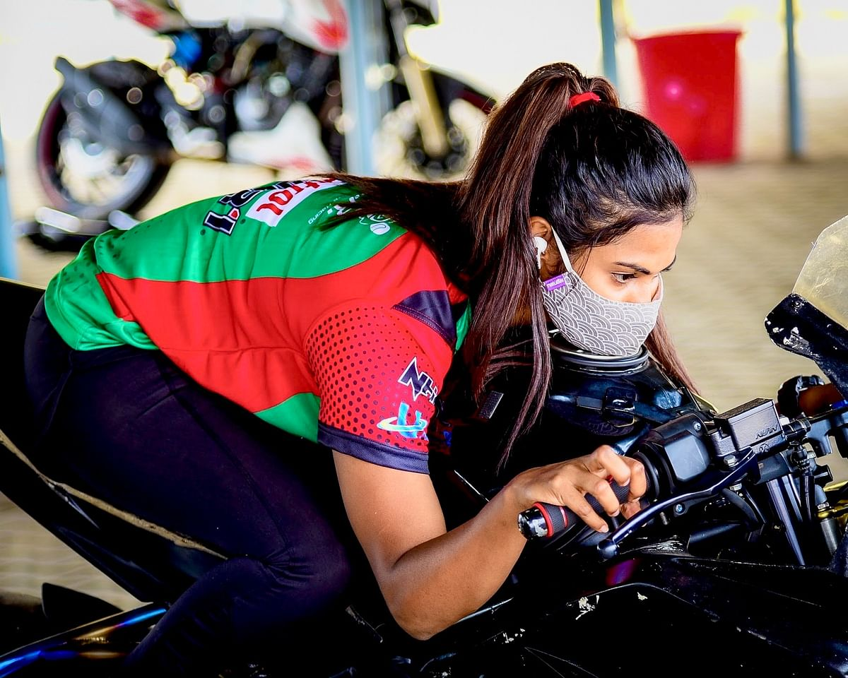 Keen on sharpening her skills, Rehana attended the first track day at the redesigned Kari Motor Speedway on November 7-8