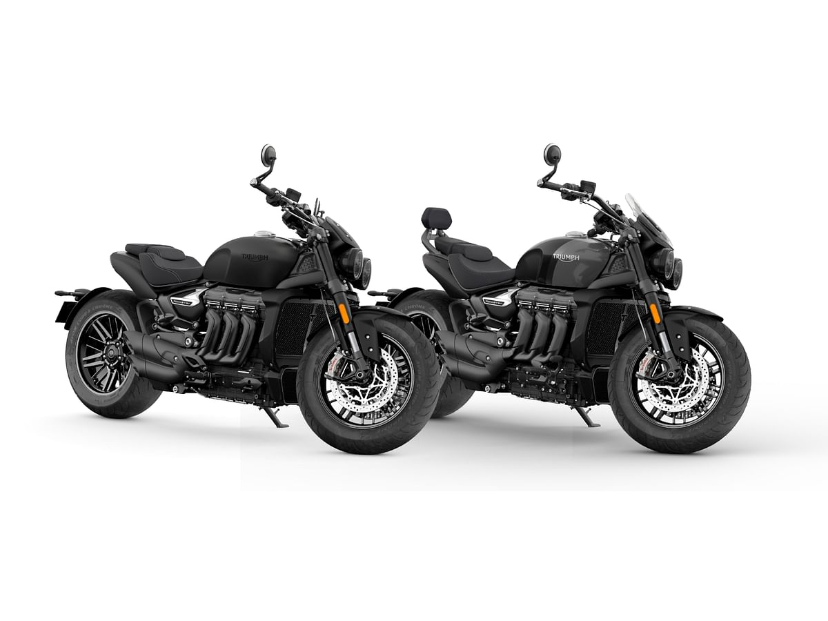 Triumph Rocket 3 R Black will cost Rs 20.35 lakh and Rocket 3 GT Triple Black will cost Rs 20.95 lakh