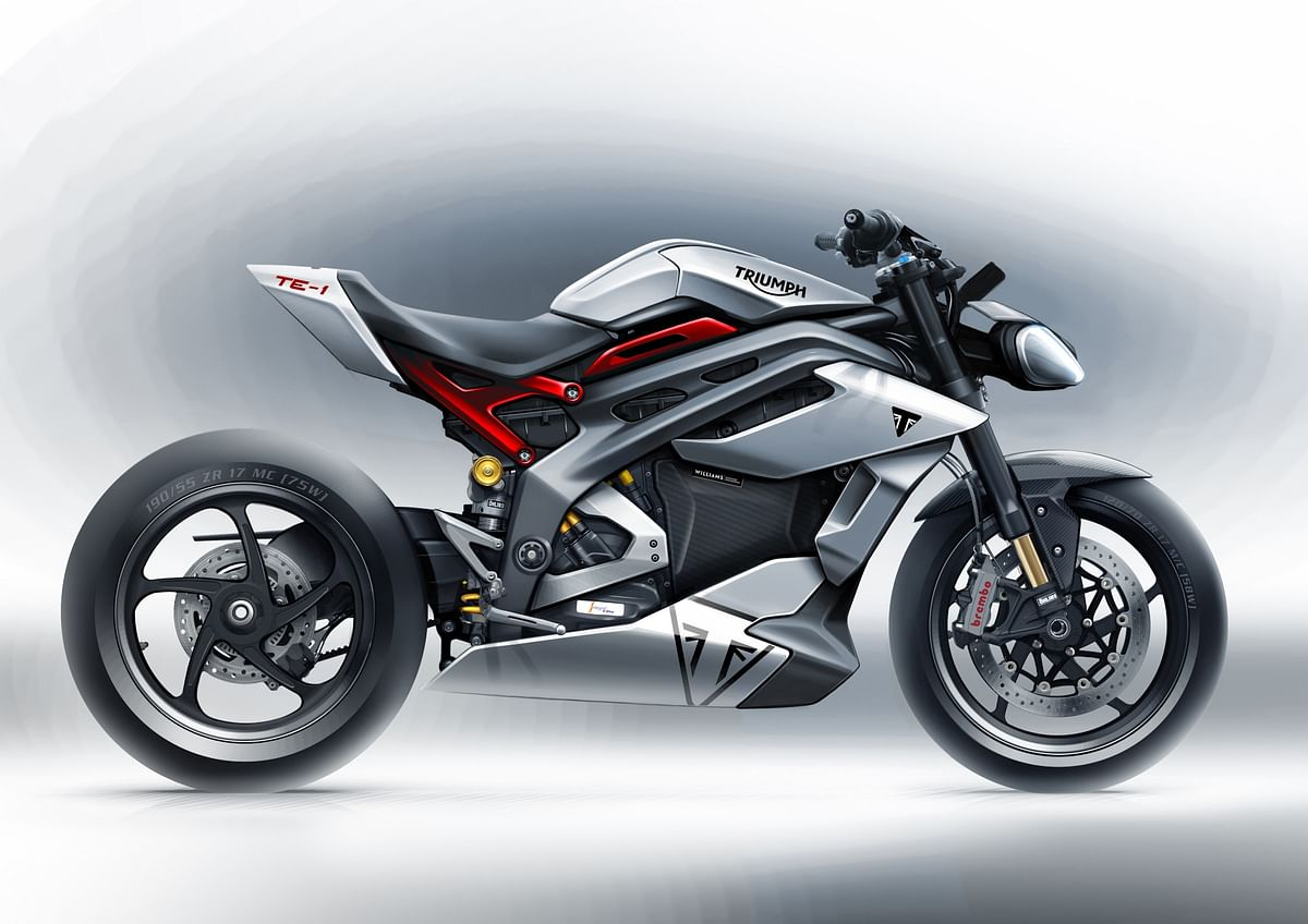 Triumph showcases sketches of the TE-1 prototype