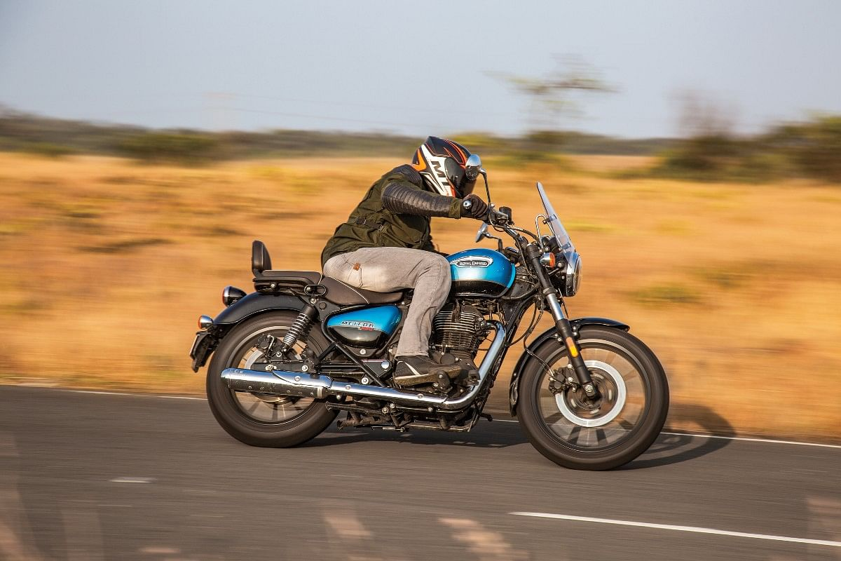 Royal Enfield has upped the ride and handling game with the Interceptor and the tradition continues with the Meteor 350 as well