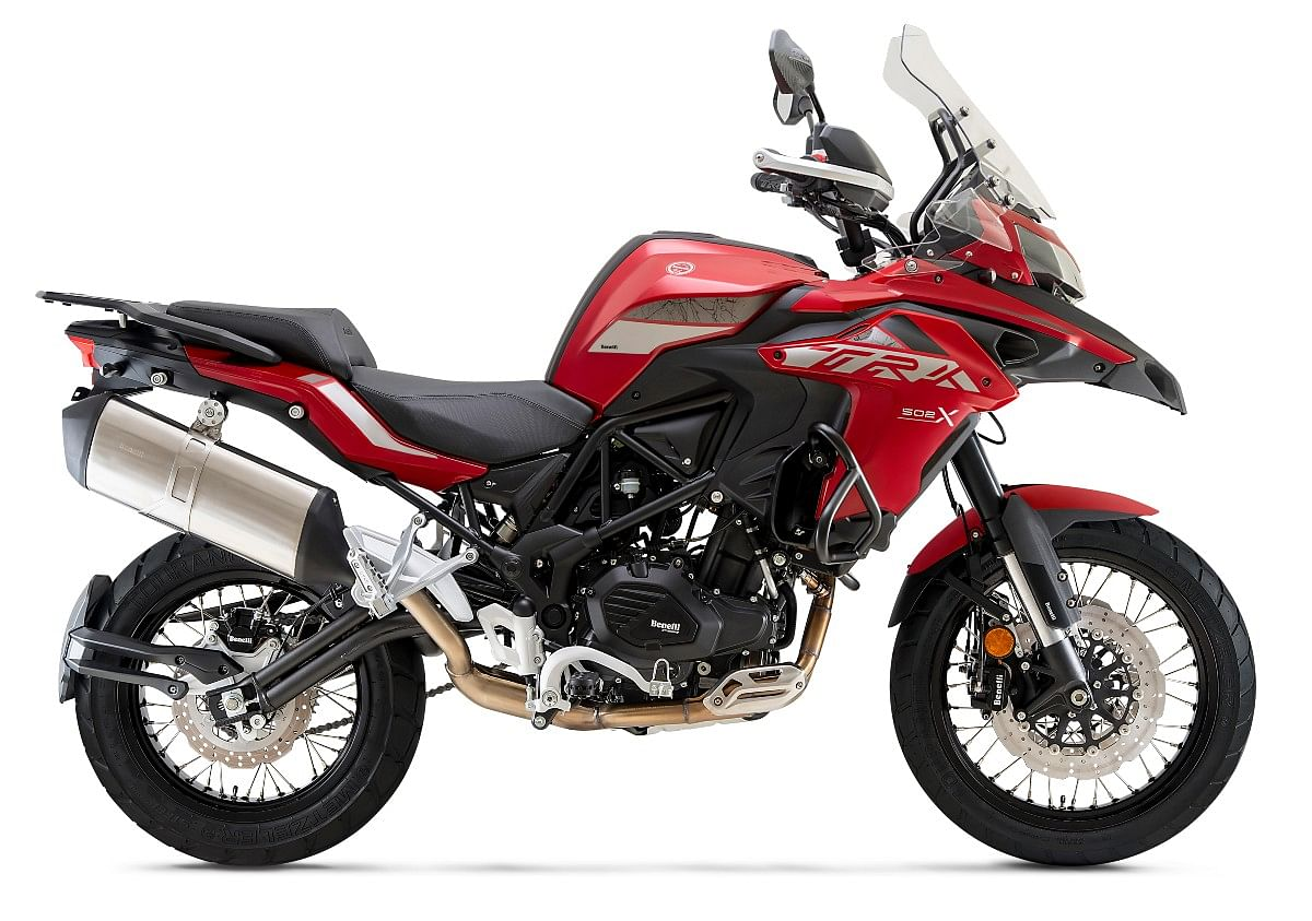 BS6 Benelli TRK 502X in Benelli Red