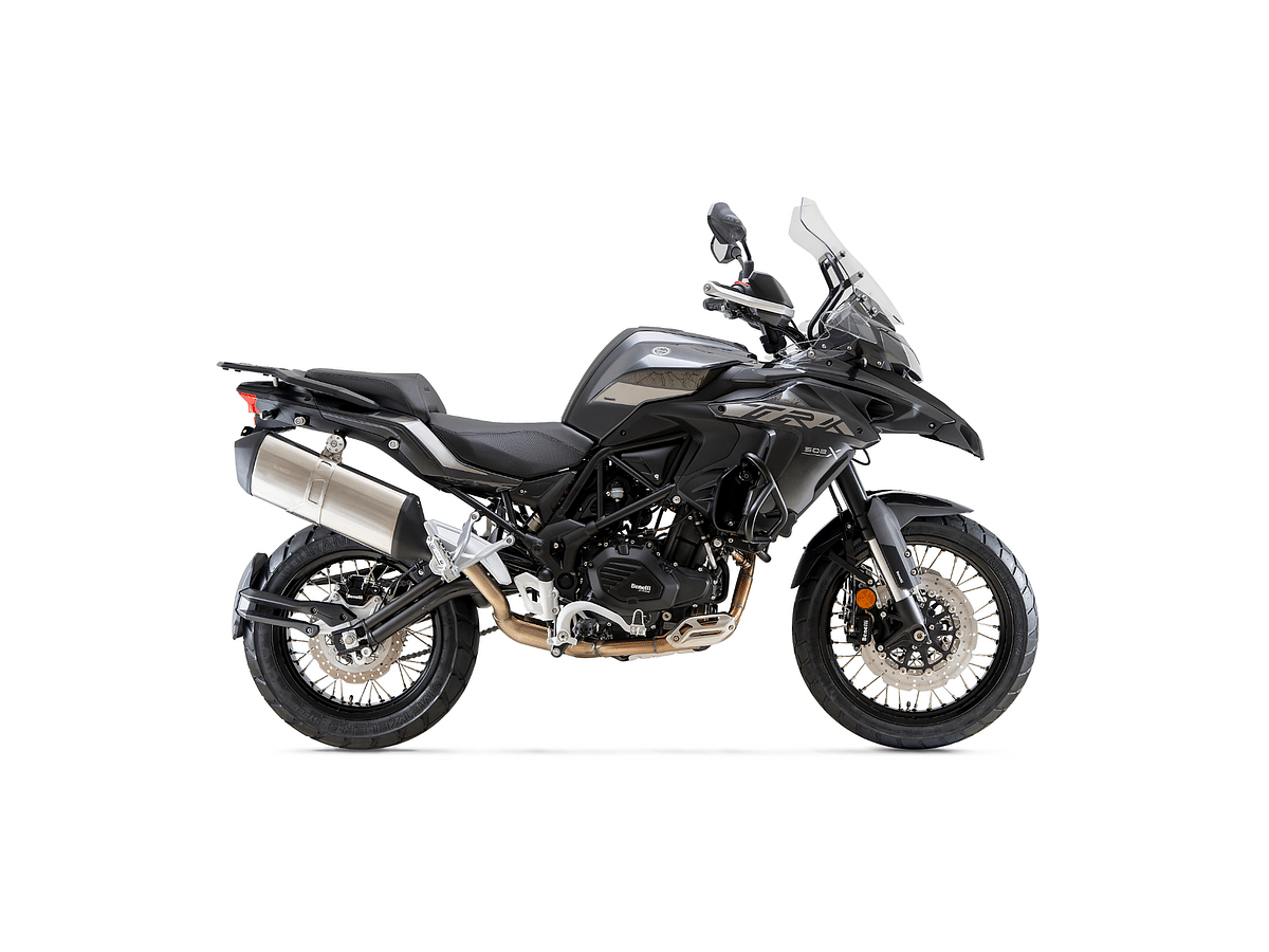 BS6 Benelli TRK 502X in Metallic Dark Grey