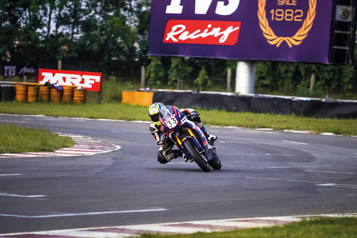 KY Ahamed at the final corner of the MMRT