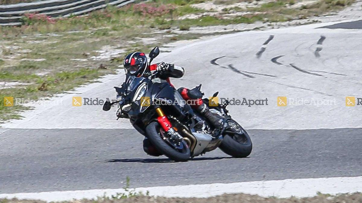Ducati Multistrada V4 Pikes Peak spied testing