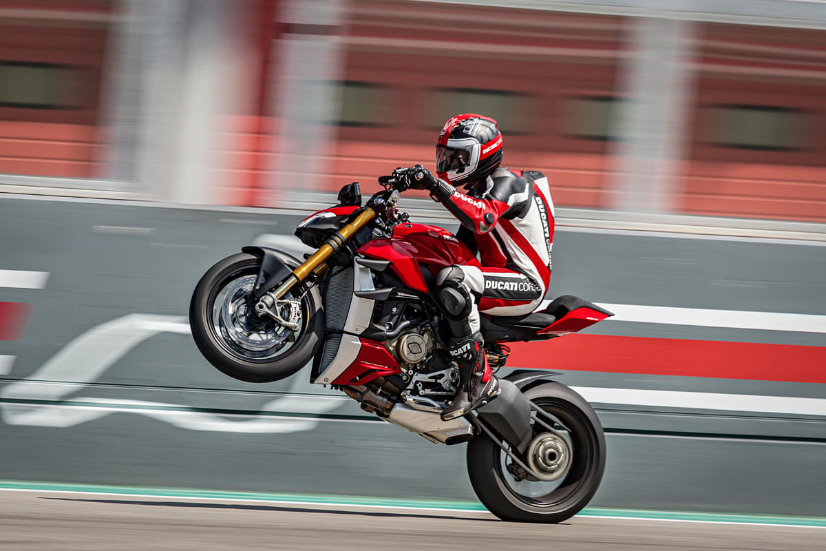 With 205bhp and 123Nm, popping wheelies won't be tough