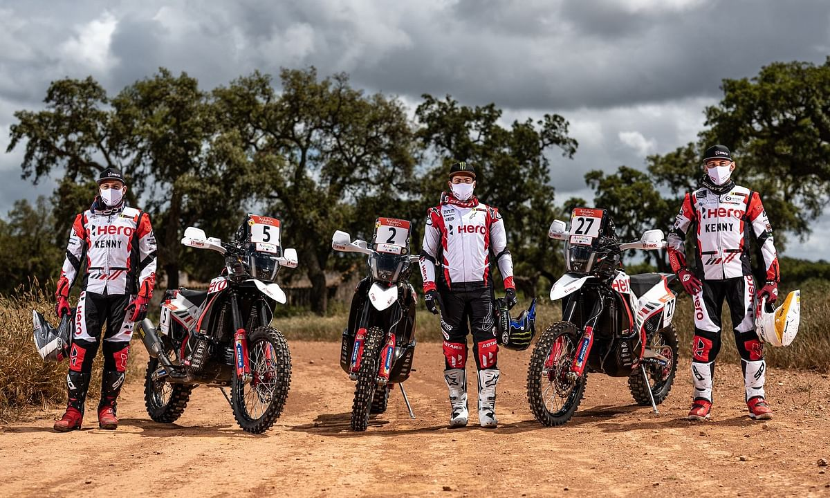 Hero MotoSport riders dominate stage one of the 2021 Andalucia rally